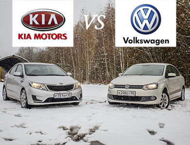 ВОЙНА МАШИН #8: KIA Rio (2014) против Volkswagen Polo Sedan (2011)
